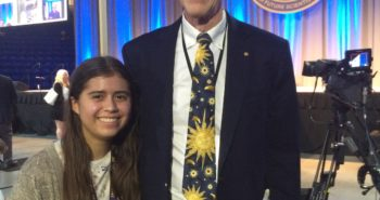 23 Trinity Peters with Dr. John Mather, Noble Prize Winner.
